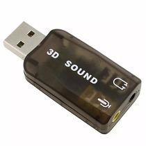 Adaptador De Áudio Usb Placa De Som 5.1 C/ P2 Pc E Notebook