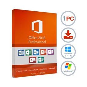 Office Profesional Pro 2016 Licencia Original, Ilimitada