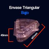 Envases Plasticos Transparentes Maxiplast Triangular Bajo