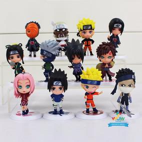 Kit 6 Naruto Miniatura Bonecos Kakashi Sasuke A218