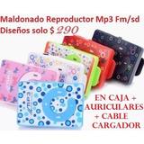 Maldonado Reproductor Mp3 Fm Y Sd Diseños Solo $ 290