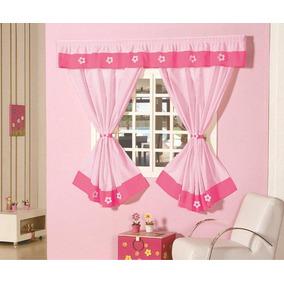 Cortina Julia Para Sala Ou Quarto Trilho Rosa Pink