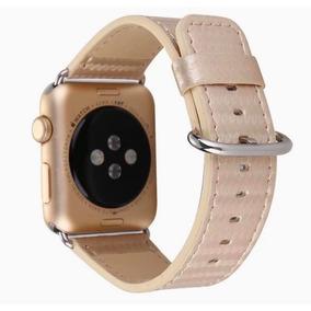 Pulseira Feminina Em Couro Pérola Para Apple Watch 38mm