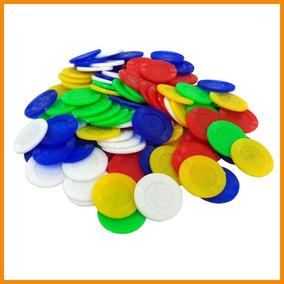 Fichas Para Casino, Bolsa C/500 Pz Dif. Colores