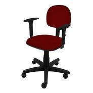 Cadeira Secretária Giratória C/ Braço Regulável
