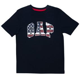 Remera Tee Logo Usa Flag - Gap