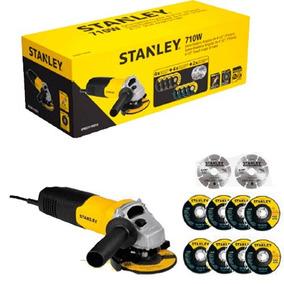 Amoladora Angular 710 Watt + 10 Discos De Corte Stanley