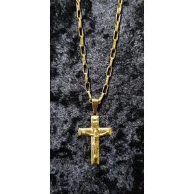 Colar De Ouro Com Crucifixo 8,4 Gr