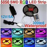 Cinta Rollo Tira 5mt 5050 Luces Led Multicolor Rgb+ Control
