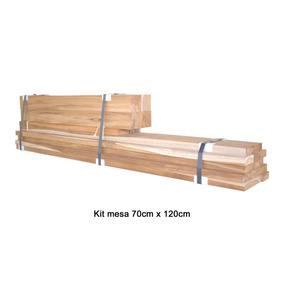 Kit Para Fabricar Uma Mesa De Madeira Teca 70cm X 120cm