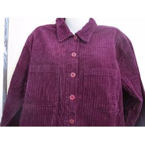 Camisa De Dama En Pana Rayada Gruesa .talle L .importada