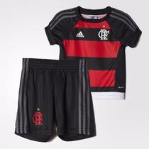 Kit Adidas Original Uniforme Flamengo Infantil Baby 1magnus