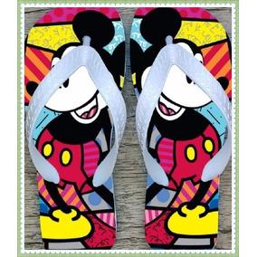 Chinelo Sandália Romero Britto Mickey Mouse Entrega Rápida !