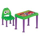 Mesa Infantil Cadeira Coleção Monstros Tramontina Verde/roxo