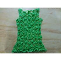 Blusa Tejida A Crochet Tipo Malla