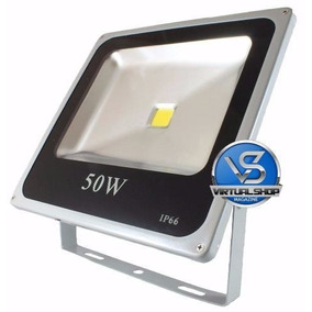 Refletor Led 50w Holofote Branco Frio Bivol A Prova D