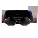 Prada Ps54rs Gafas De Sol De Plata W/lente Gris De La Pendie