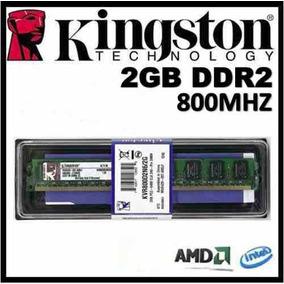 Kit 2 Memória Kingston 2gb Ddr2 800mhz Pc2-6400 Total 4gb Pc