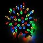 Guirnalda Solar De 100 Luces Leds Arroz Color