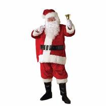 Disfraz Viejo Pascuero Santa Claus Nuevo Amer. Piel 11pz