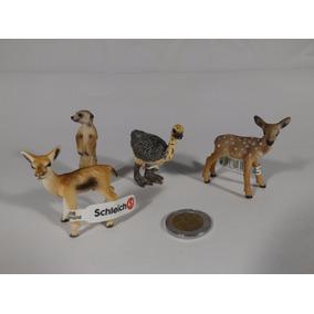 Lote Figuras Schleich Animales Silvestres Venado, Suricato