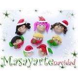 Apliques De Navidad Masa Flexible Masayarte