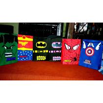Bolsitas Artesanales De Superheroes Personalizadas
