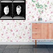 Papel De Parede Floral Delicado Quarto Sala 310x58cm