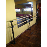 Barra Para Danza Doble Fijada Al Piso Instalación Gratis