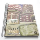 Cuaderno T Dura C/espiral Travel Mis Apuntes 150 Hs Rayadas