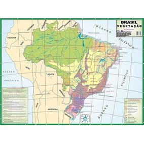 Mapa Do Brasil Vegetação Telado Globomapas