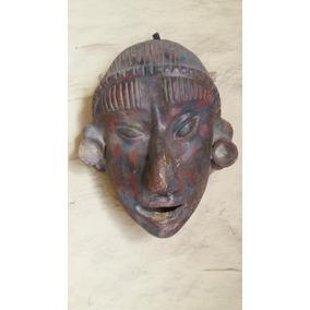 Mascara Artesanal Tipo Prehispanico Hecha En Barro