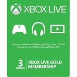 Xbox Live Gold Membresia 3 Meses Multiregión - Codigo