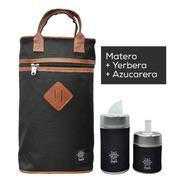 Equipo De Mate Set Matero | Bolso + Latas | Negro | Yuco