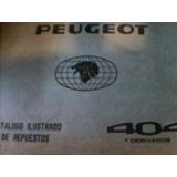 Libro Manual Master De Despiece Original: Peugeot 404 1978