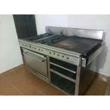 Cocina Industrial 4 Hornillas, Plancha, Horno Y Gratinador