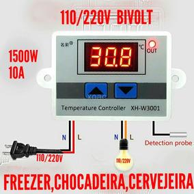2 Termostato Digital 110/220v Freezer,cervejeira,chocadeira