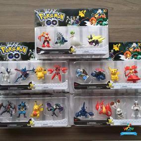 Kit 20 Bonecos Miniaturas 5-8cm Pokebola Pokemons A013