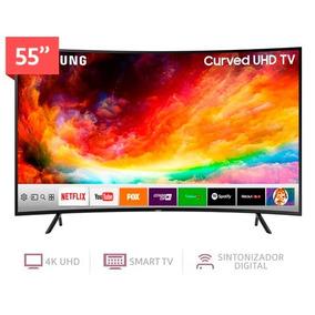 Televisor Smartv Curvo De 55 Pulgadas 4k Samsung Un55nu7300