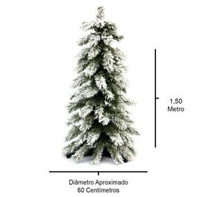 Árvore De Natal Snow Slim 150cm Ref.: Pss150-165t Ra0170