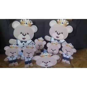 Urso Príncipe Novo - 10 Displays De Festa De 30cm Totens