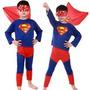 Fantasia Superman Super Homem Infantil Festa Roupa Criança