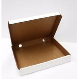 50 Cajas Para Pizza 32x32x4cms Carton Microcorrugado Blanca