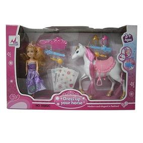 Juguetes Mun¥eca Princesa Con Pony & Accesorios