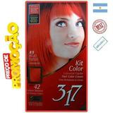 Tintur Tonalizante Pintar Cabelo Kit Color Vermelho Fogo 0.5