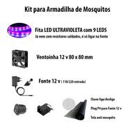Kit P/ Armadilha De Mosquito C/led Ultravioleta Fácil Montar