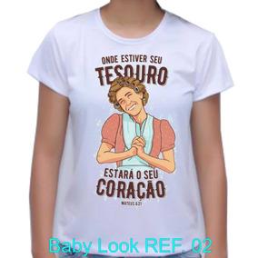 Camiseta Baby Look Gospel Evangelica Do Chaves Dona Florinda