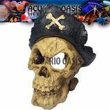 Adorno De Resina Craneo Pirata / Calavera Pirata M4177