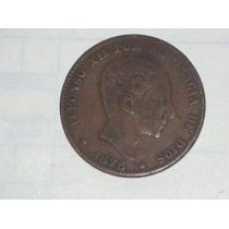 Muy Antigua Española 10 Céntimos 1878..