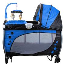 Berço Desmontável Baby Style Balanço Musical 1448006 - Azul